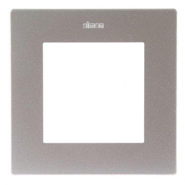 Рамка Simon 24 Harmonie 2400610-033 одноместная универсальная алюминий