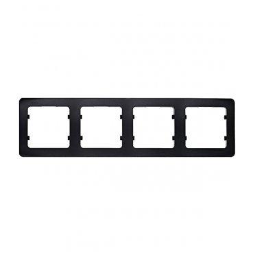 Рамка HEGEL Master Р404-08 четырехместная горизонтальная черная