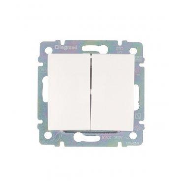 Переключатель Legrand Valena 694266 двухклавишный на 2 направления скрытая установка белый