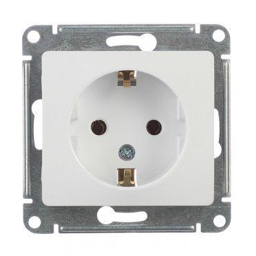 Розетка Schneider Electric Glossa GSL000143 скрытая установка белая с заземлением