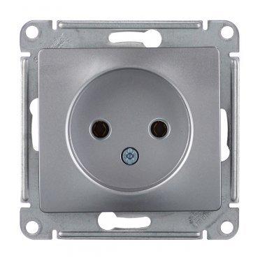 Розетка Schneider Electric Glossa GSL000341 скрытая установка алюминий без заземления
