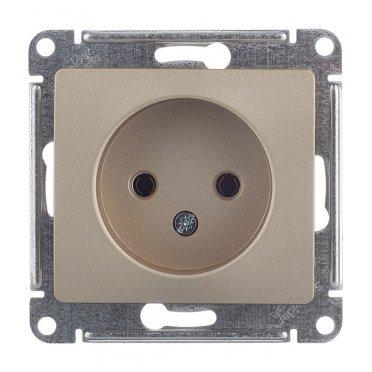 Розетка Schneider Electric Glossa GSL000441 скрытая установка титан без заземления