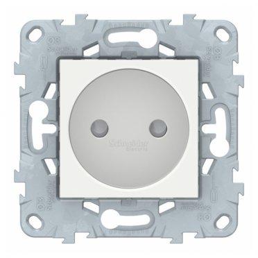 Розетка Schneider Electric Unica NEW NU503318 скрытая установка белая без заземления со шторками винтовой зажим