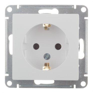 Розетка Schneider Electric Atlas Design ATN000143 скрытая установка белая с заземлением