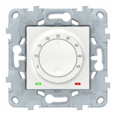 Термостат для теплого пола Schneider Electric Unica NEW NU550318 скрытая установка белый с выносным датчиком