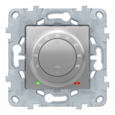 Термостат для теплого пола Schneider Electric Unica NEW NU550330 скрытая установка алюминий с выносным датчиком