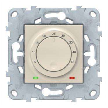 Термостат для теплого пола Schneider Electric Unica NEW NU550344 скрытая установка бежевый с выносным датчиком
