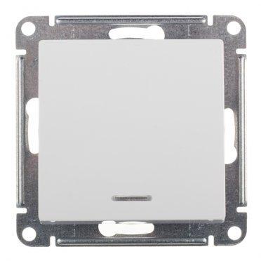 Выключатель Schneider Electric Atlas Design ATN000113 одноклавишный скрытая установка белый с подсветкой