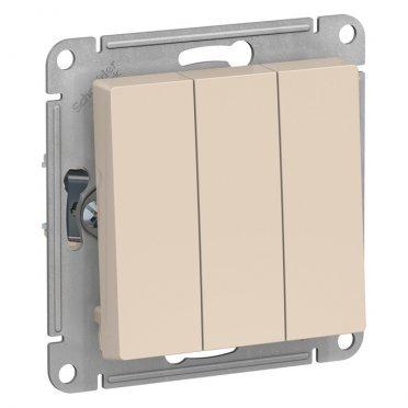 Выключатель Schneider Electric Atlas Design ATN000231 трехклавишный скрытая установка бежевый