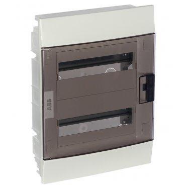 Щит распределительный встраиваемый ABB Mistral41 пластиковый IP41 435х320х107 мм 24 модуля