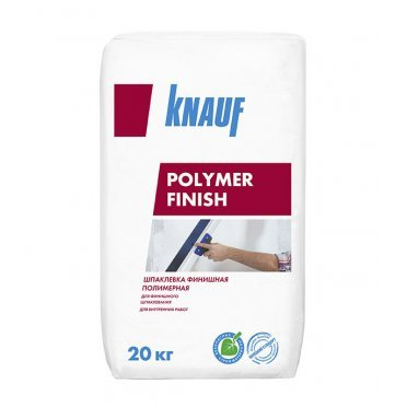 Шпаклевка полимерная Knauf Полимер Финиш для сухих помещений белая 20 кг