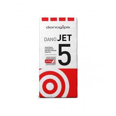 Шпаклевка полимерная Danogips Dano Jet 5 выравнивающая 25 кг