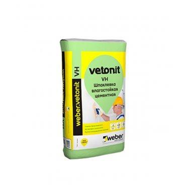 Шпаклевка цементная Weber.vetonit VH для влажных помещений белая 20 кг