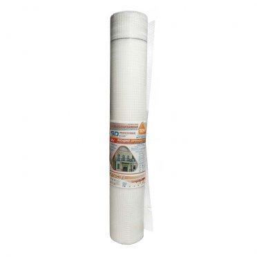 Сетка стеклотканевая фасадная ячейка 4х4 мм 160 г/м2 рулон 1х50 м ГОСТ
