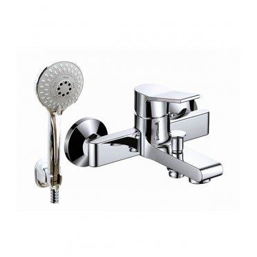 Смеситель для ванны и душа ARGO JASON 35-05L с коротким изливом однорычажный с лейкой хром