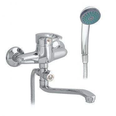 Смеситель для ванны CORSA DECO Bagel с длинным изливом однорычажный с лейкой