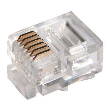 Штекер телефонный Proconnect (05-1013-9) 6P6С белый (5 шт.)