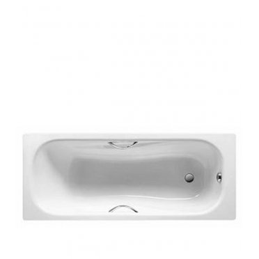 Ванна стальная ROCA Princess 160х75см толщина 2,4 мм без ножек с отверстиями под ручки