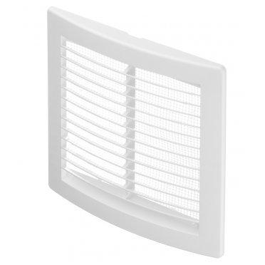 Решетка вентиляционная пластиковая приточно-вытяжная ERA 150х150 мм с сеткой белая