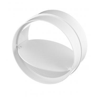 Соединитель для круглых воздуховодов ERA с обратным клапаном пластиковый d125 мм