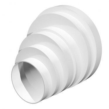 Соединитель для круглых воздуховодов ERA пластиковый d80/100/120/125/150/160 мм
