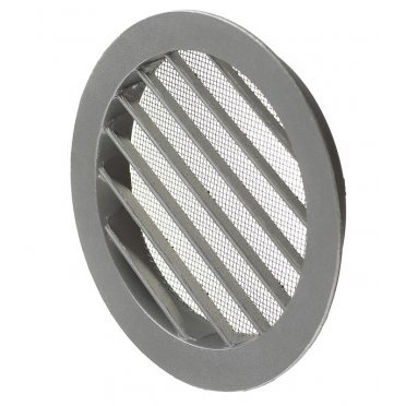 Решетка вентиляционная наружная ERA с фланцем d125 мм круглая алюминиевая d150 мм