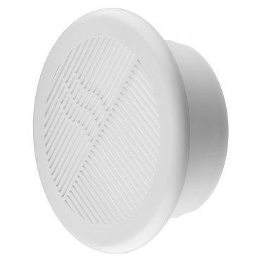 Решетка вентиляционная торцевая ERA с фланцем d125 мм круглая пластиковая d164 мм
