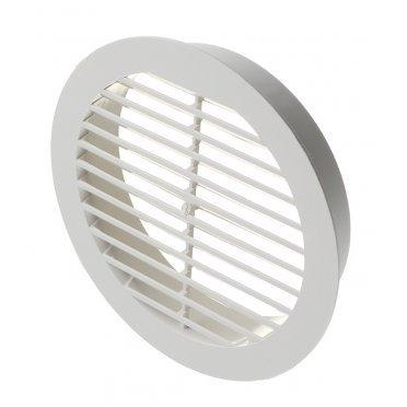 Решетка вентиляционная наружная ERA с фланцем d125 мм круглая пластиковая d150 мм
