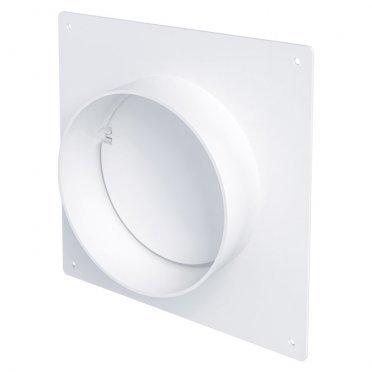 Соединитель для круглых воздуховодов ERA с накладной пластиной с обратным клапаном пластиковый d150 мм