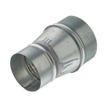Переход с круглых воздуховодов d125 мм на круглые d100 мм оцинкованный