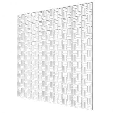 Решетка вентиляционная пластиковая декоративная потолочная ERA 595х595 мм белая