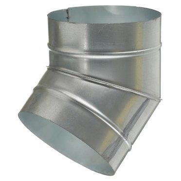Отвод для круглых воздуховодов d200 мм 45° оцинкованный