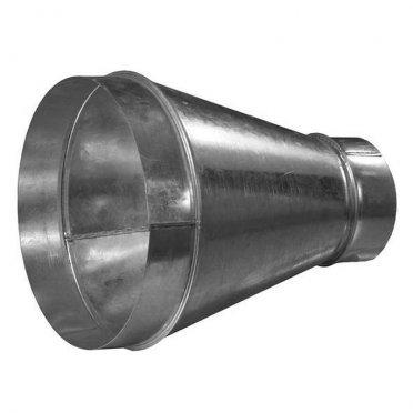 Переход с круглых воздуховодов d315 мм на круглые d250 мм оцинкованный
