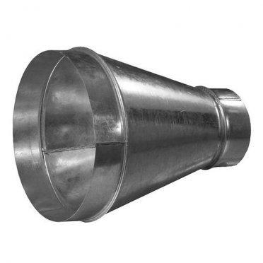 Переход с круглых воздуховодов d250 мм на круглые d160 мм оцинкованный