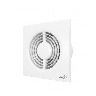 Вентилятор осевой ERA NEO с обратным клапаном, с антимаскитной сеткой 180х180 мм d125 мм белый