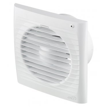 Вентилятор осевой ERA 5S ET с таймером 175х175 мм d125 мм белый