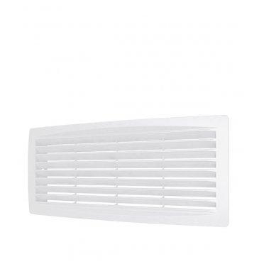 Решетка вентиляционная пластиковая переточная ERA 300х135 мм белая
