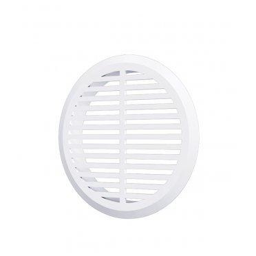Решетка вентиляционная пластиковая переточная ERA круглая d50 мм с фланцем d45 мм белая (4 шт.)