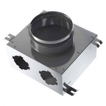 Коллектор вентиляции для круглых воздуховодов BlauFast SR 125/75х2 01 с фланцем d67 мм металлический