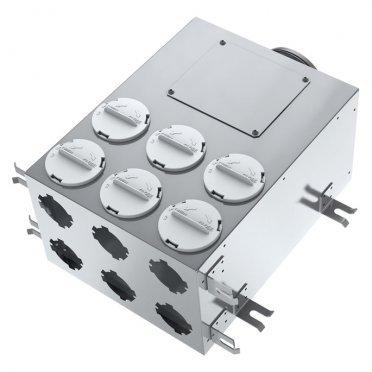 Коллектор вентиляции для круглых воздуховодов BlauFast SR 125/75х6 02 с фланцем d67 мм металлический