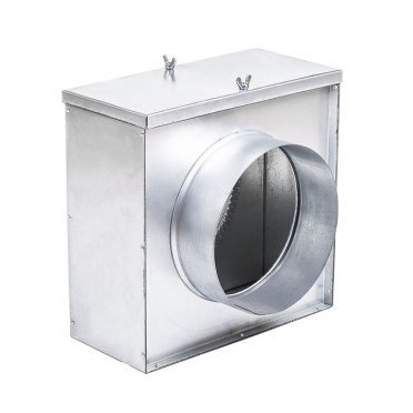 Фильтр для круглых воздуховодов d400 мм оцинкованный