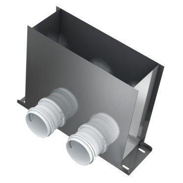 Пленум напольный на два выхода BlauFast RPF 300х100/75х2 M d67 мм