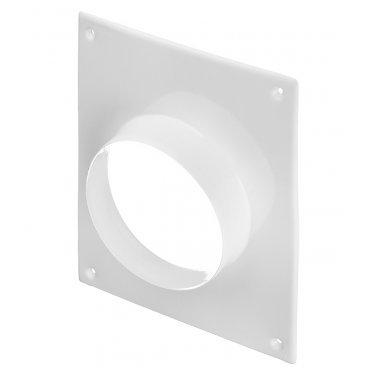 Фланец с площадкой 196х236 мм для круглых воздуховодов d125 мм стальной белый