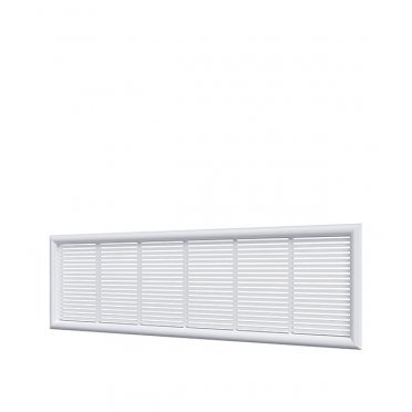 Решетка вентиляционная пластиковая переточная ERA 227х67 мм белая