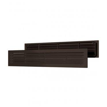 Решетка вентиляционная пластиковая переточная ERA 450х91 мм коричневая (2 шт.)