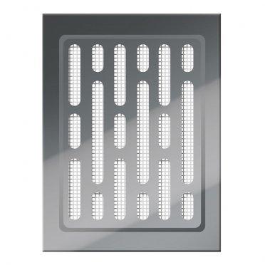 Решетка вентиляционная нержавеющая сталь AWENTA MN01N 100х140 мм с сеткой