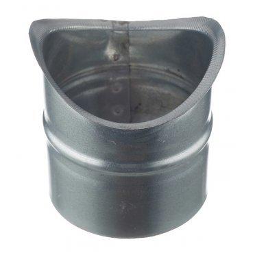 Врезка для круглых воздуховодов d125х100 мм оцинкованная