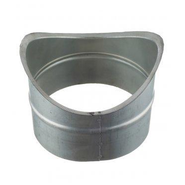 Врезка для круглых воздуховодов d200х160 мм оцинкованная