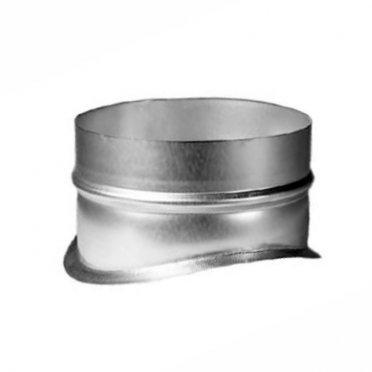 Врезка для круглых воздуховодов d250х200 мм оцинкованная