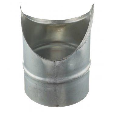 Врезка для круглых воздуховодов d100х100 мм оцинкованная